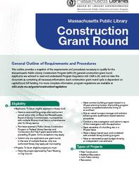 Construction Grant Round Information Flyer