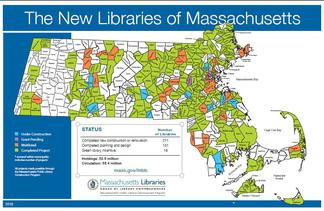 Map of Library Construction Projects across the State