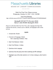 Agenda for Kids Cast Your Vote Meeting 10-14-20