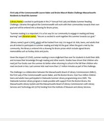 First Lady and Blades Summer Challenge Template News Release